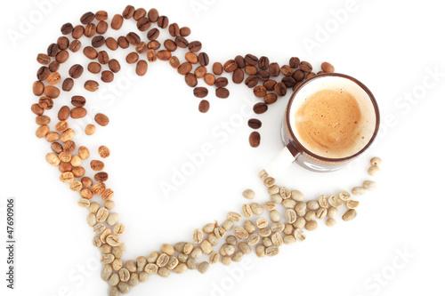 serce-z-ziaren-kawy