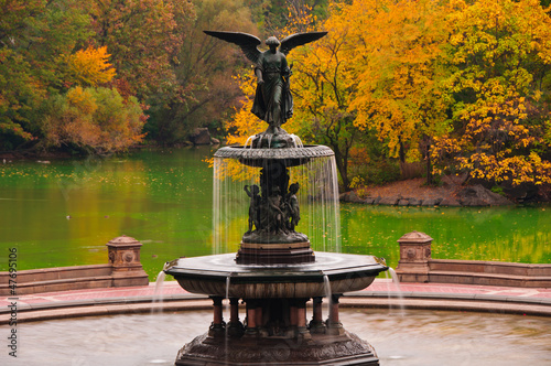 Photo  Fall colors at Bethesda Fountain in Central Park. New York City