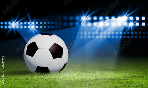 In de dag voetbal black and white soccer ball