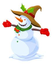 Christmas Snowman, Illustration