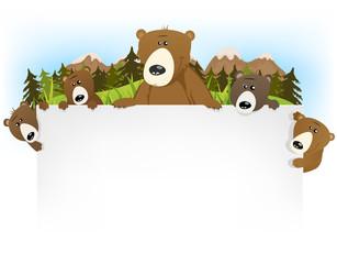 Cute Bear Family Background
