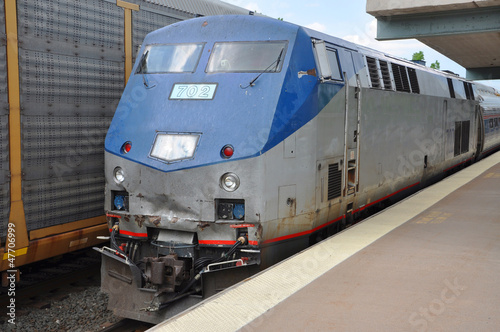 Amtrak Locomotive General Electric in Syracuse, USA Canvas Print