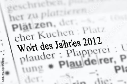 Photo  Wort des Jahres 2012