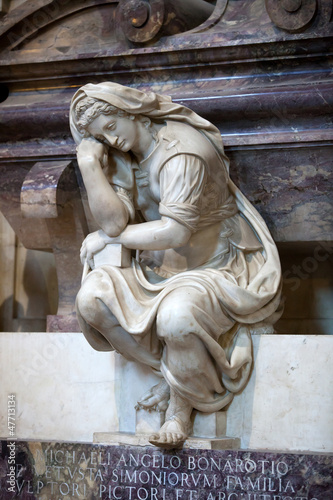Obrazy Michał Anioł Buonarotti  florence-santa-croce-tomb-of-michelangelo-buonarroti