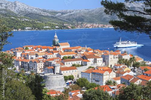 Valokuvatapetti Old Town of Korcula, Croatia