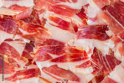 Foto  jabugo ham plate closeup