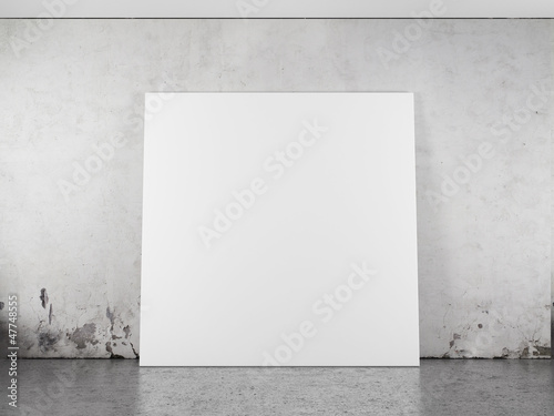 Tablou Canvas White blank frame against the wall
