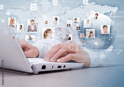 Fotografie, Obraz  Symbol of social network