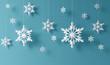 canvas print picture - snowflakes