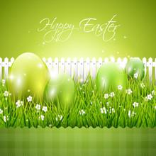 Green Modern Easter Background