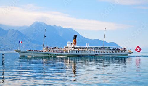 Cuadros en Lienzo Vintage steam boat