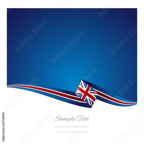Fotografie, Obraz  British flag abstract color background vector
