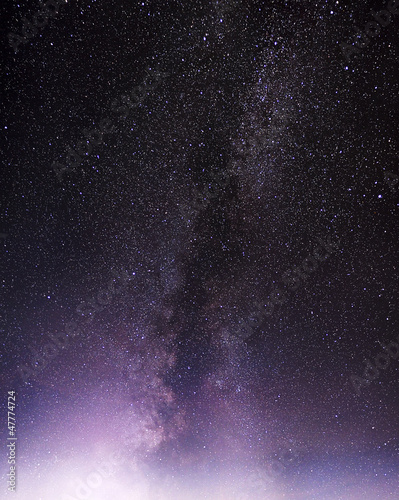 Part of a night sky with stars and Milky Way