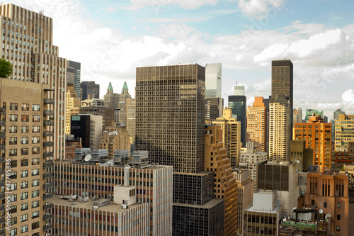 Fotografía  Midtown East Side rooftops, New York
