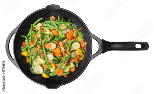Photo  Vegetable pan stir-fry