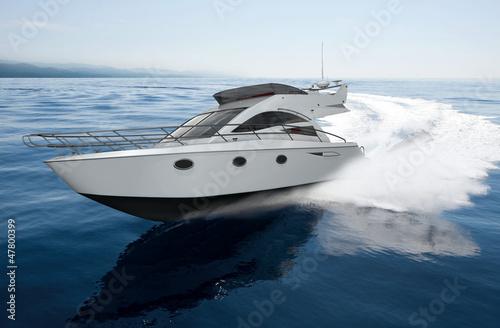 Obraz na płótnie yacht render 5
