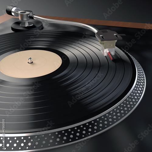 Obraz w ramie Record Player
