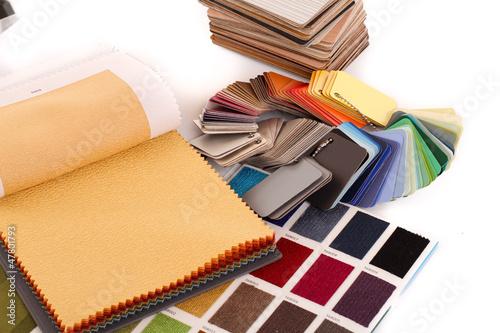 Fotobehang Stof Stoffe / Farbfächer