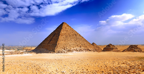 In de dag Egypte Great Pyramid of Giza. Egypt
