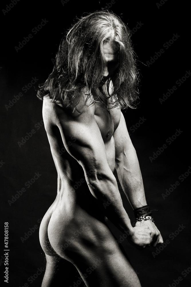 Fototapeta Muskularny sexowny mężczyzna