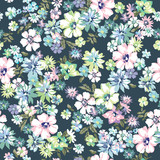 blue seamless floral ditsy