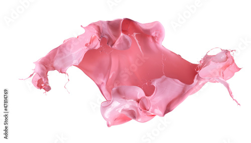 Foto op Aluminium Milkshake Isolated shot of paint splashing