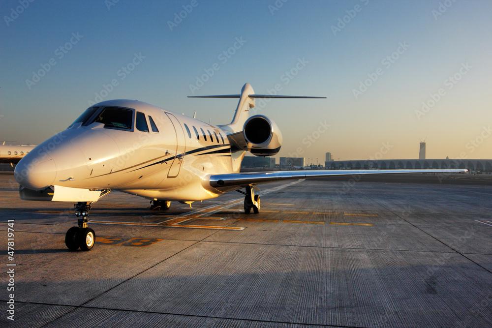 Fototapety, obrazy: Beautiful shape of a private jet