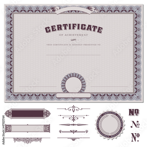 Certificate template and additional design elements buy this stock certificate template and additional design elements yelopaper Image collections