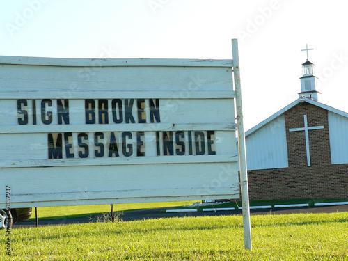 Valokuva  church sign