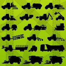 Agriculture Industrial Farming Equipment Tractors, Trucks, Harve