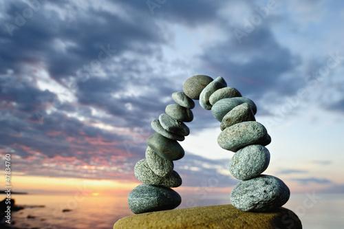 Doppelrollo mit Motiv - Pebbles Curve (von styf)