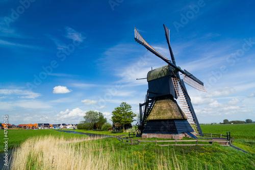 Aluminium Prints Mills Dutch windmill. Netherlands