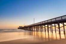Sunset At Newport Beach Pier