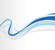Swirling Abstract Blue Lines
