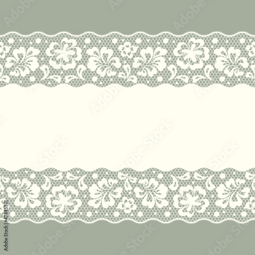 Valokuva  Seamless lace pattern, flower vintage vector background.