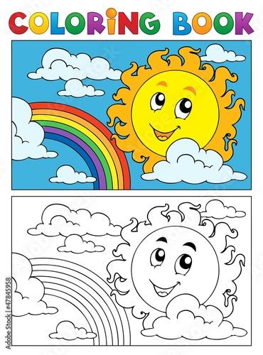 Türaufkleber Zum Malen Coloring book summer image 1