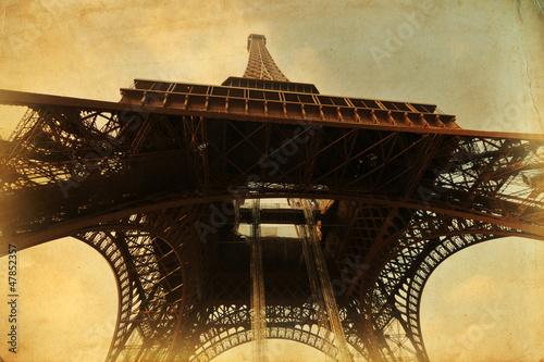nostalgisch texturiertes Bild vom Eiffelturm