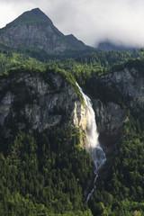 Obraz Waterfall in Switzerland mountains
