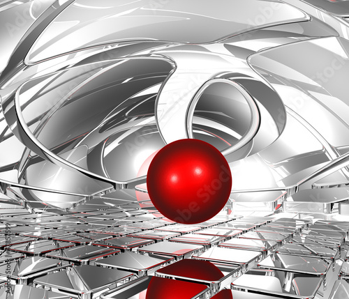 sphere in abstract space - 47857599