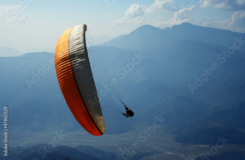 Wall Murals Nepal paragliding in the Himalayas