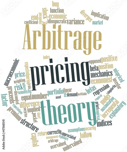 Photo Word cloud for Arbitrage pricing theory