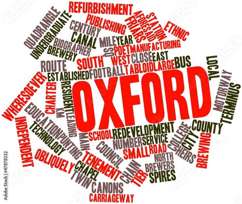 Word cloud for Oxford Canvas Print