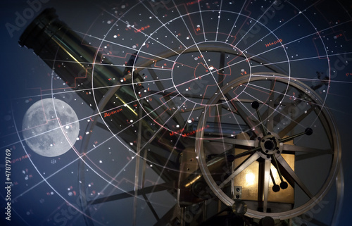 Fotobehang Volle maan Astronomical abstract background