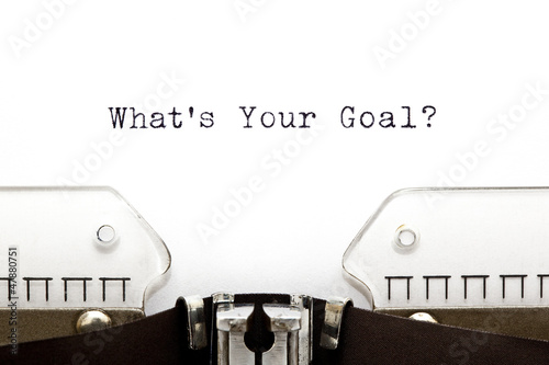 Photo  Typewriter Whats Your Goal