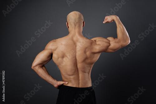 Obraz bodybuilder in the studio - fototapety do salonu