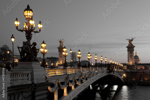Spoed Foto op Canvas Parijs Alexander III bridge, Paris, France