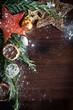 Weihnachtsdeko - Christmas decoration mit Schnee