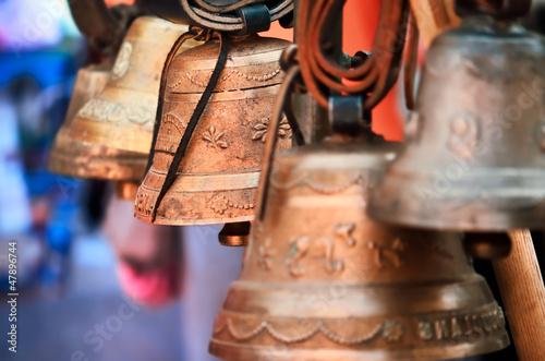 Fotografie, Obraz  cloches de vaches,alpes,suisse,savoie,carillons