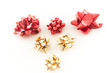 Gold and Red Christmas Wrapping Bows
