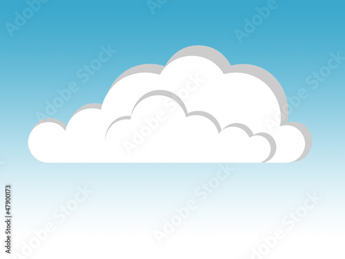 Printed kitchen splashbacks Heaven cloud illustration